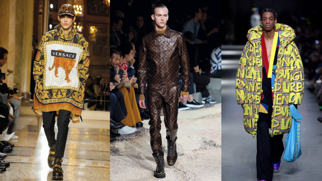 fashion designers influenced by hip hop logos burberry versace louis vuitton